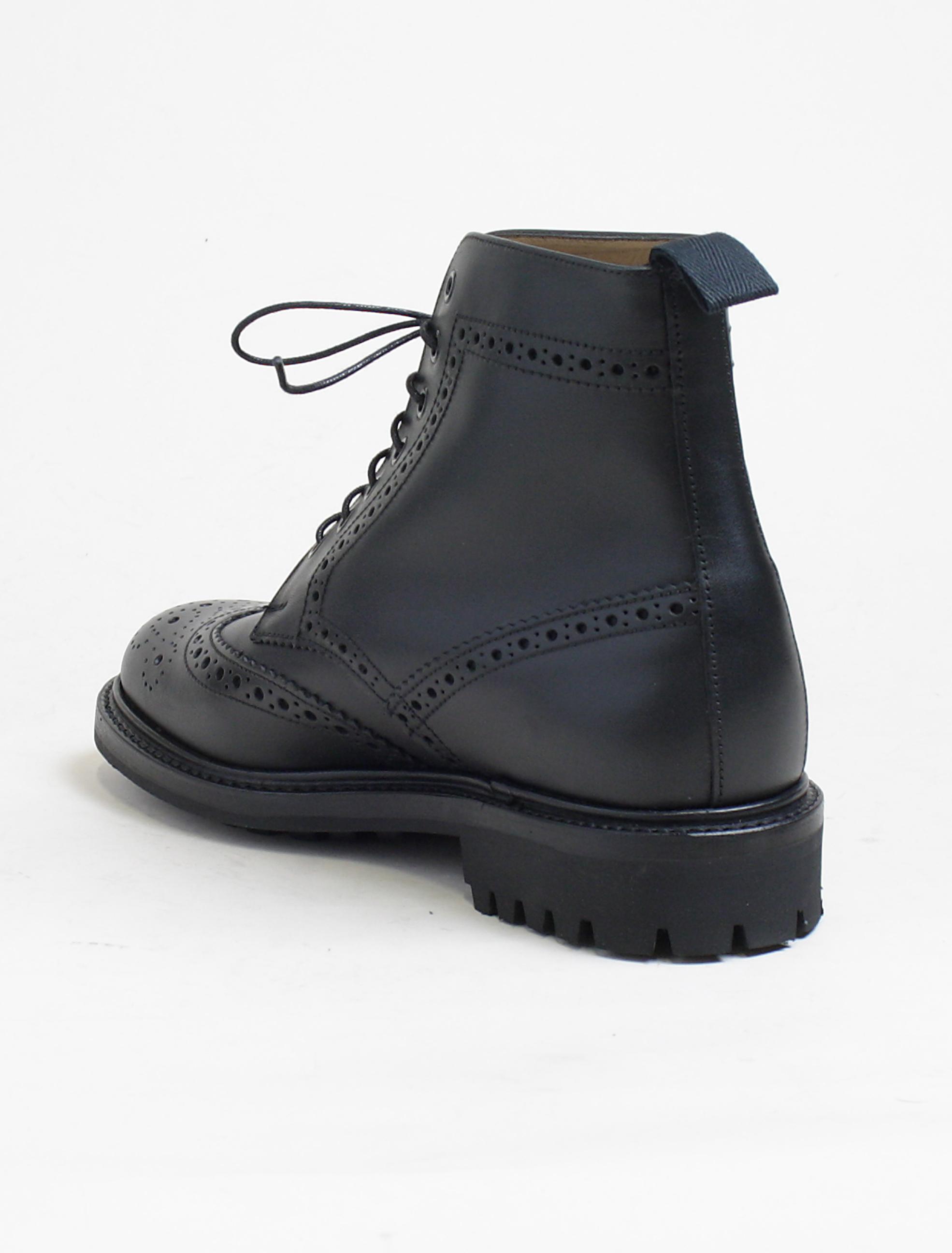 Sanders 8317 Cheltenham black brogue derby boot dettaglio tacco