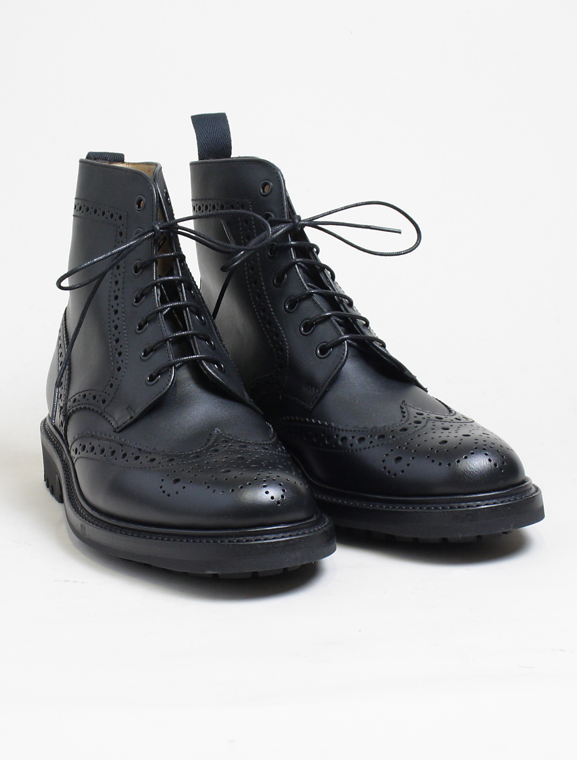 Sanders 8317 Cheltenham black brogue derby boot paio