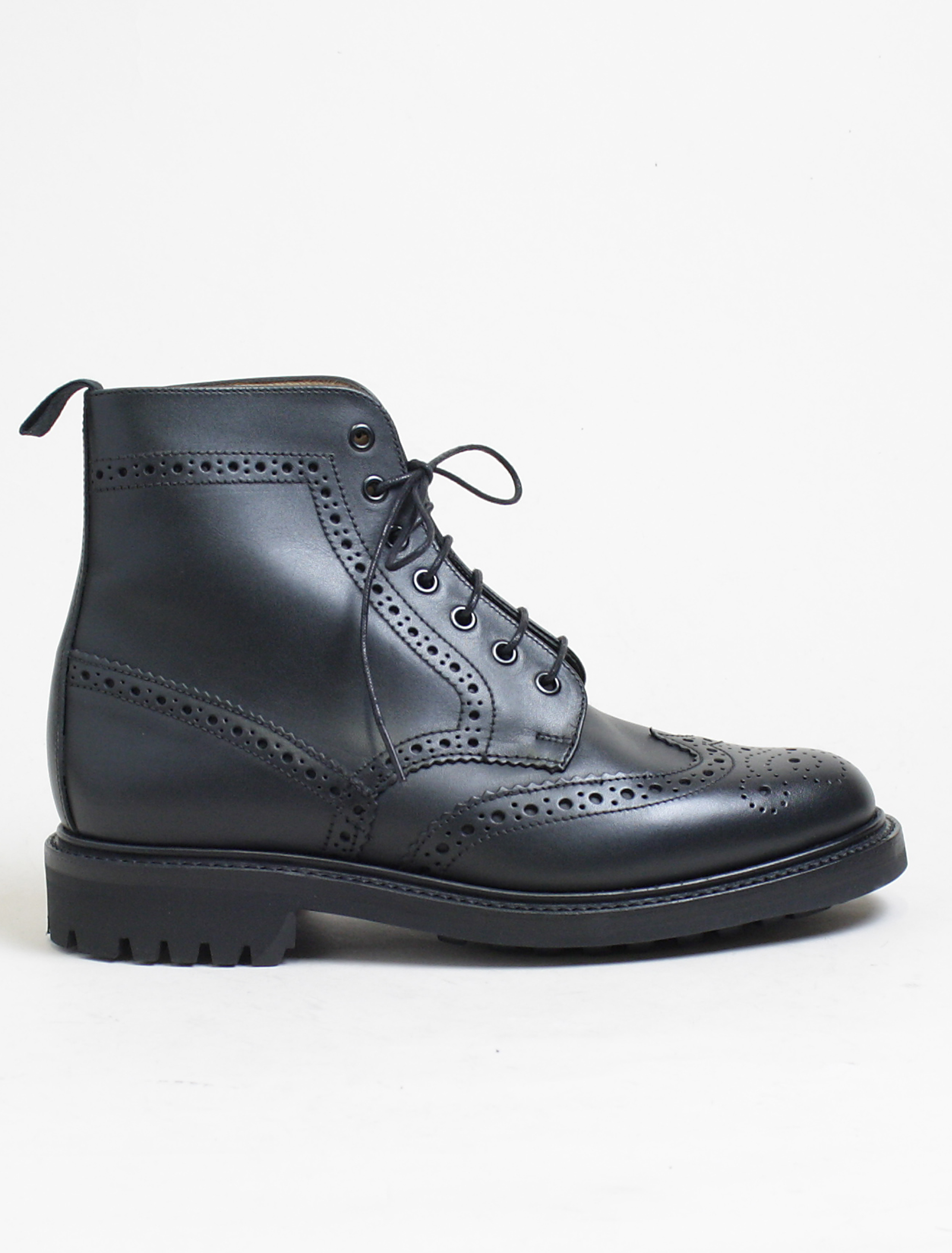Sanders 8317 Cheltenham black brogue derby boot