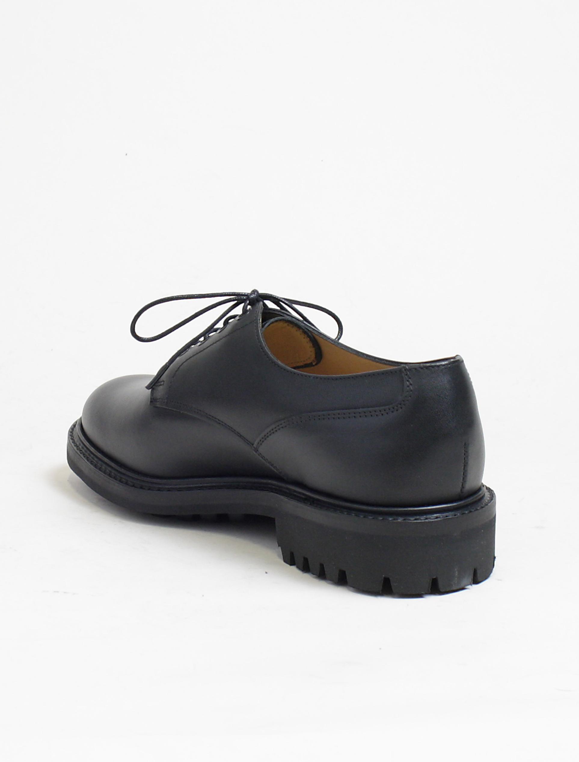 Sanders 9920 derby shoes black calf commando back detail