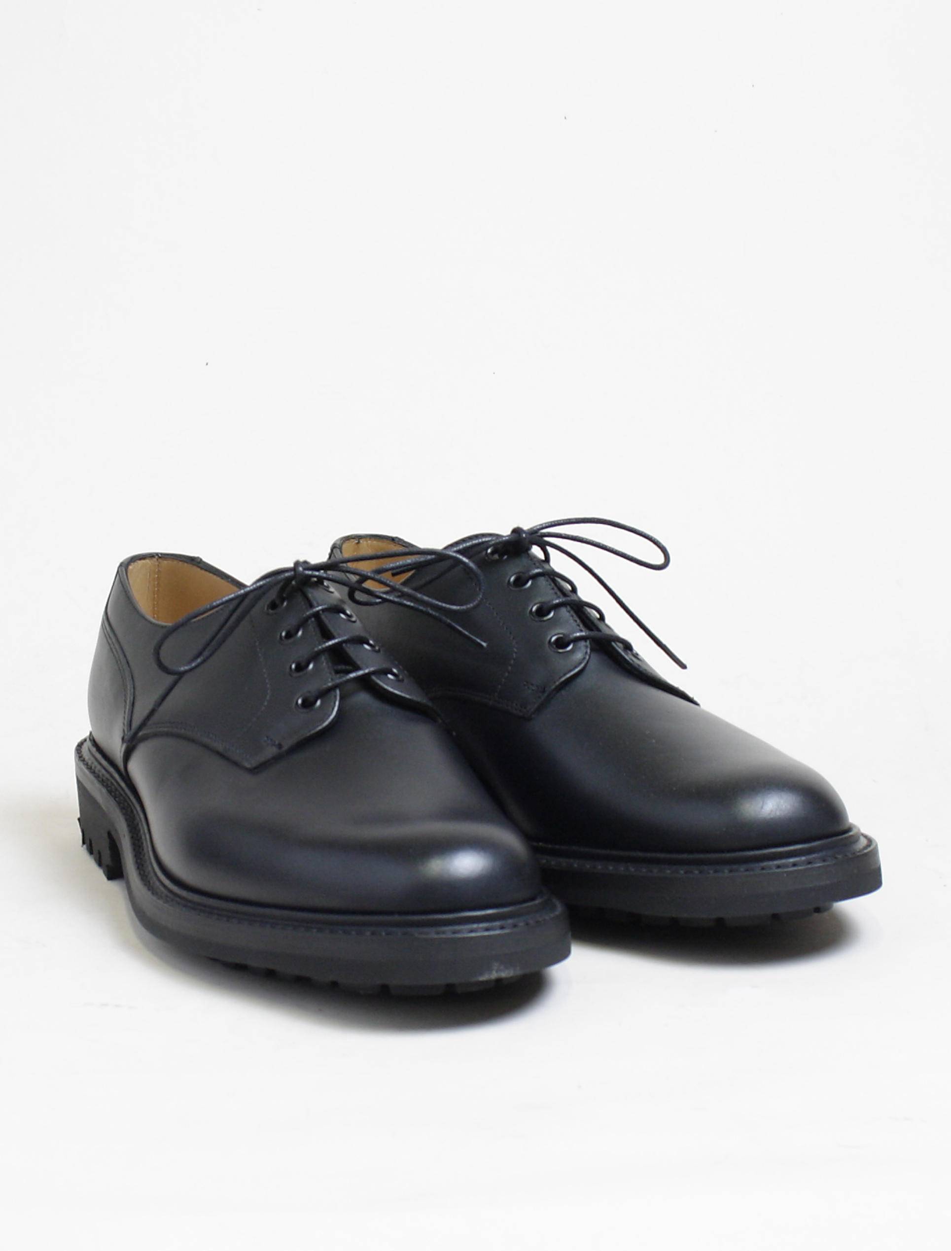 Sanders 9920 derby shoes black calf commando paio