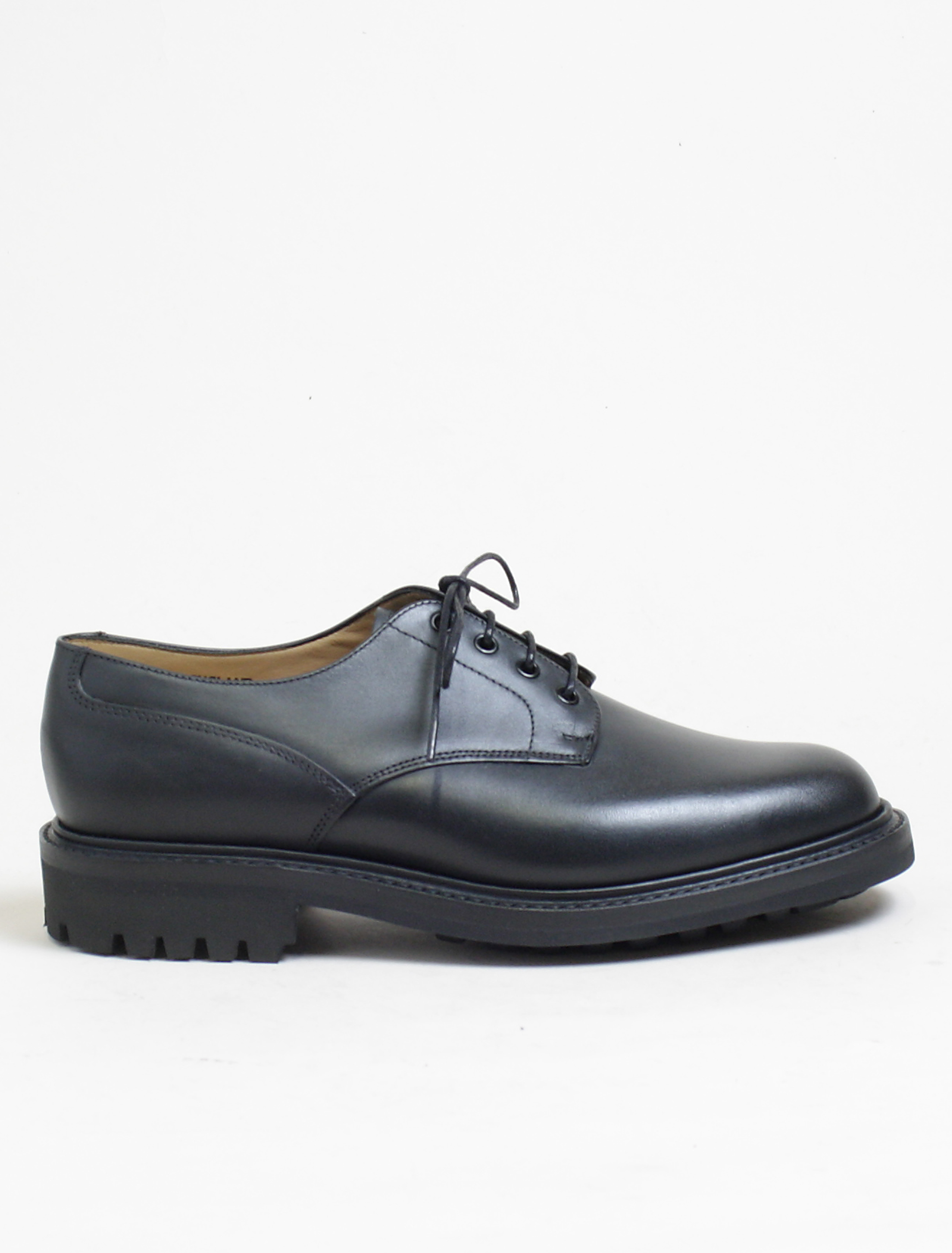 Sanders 9920 derby shoes black calf commando