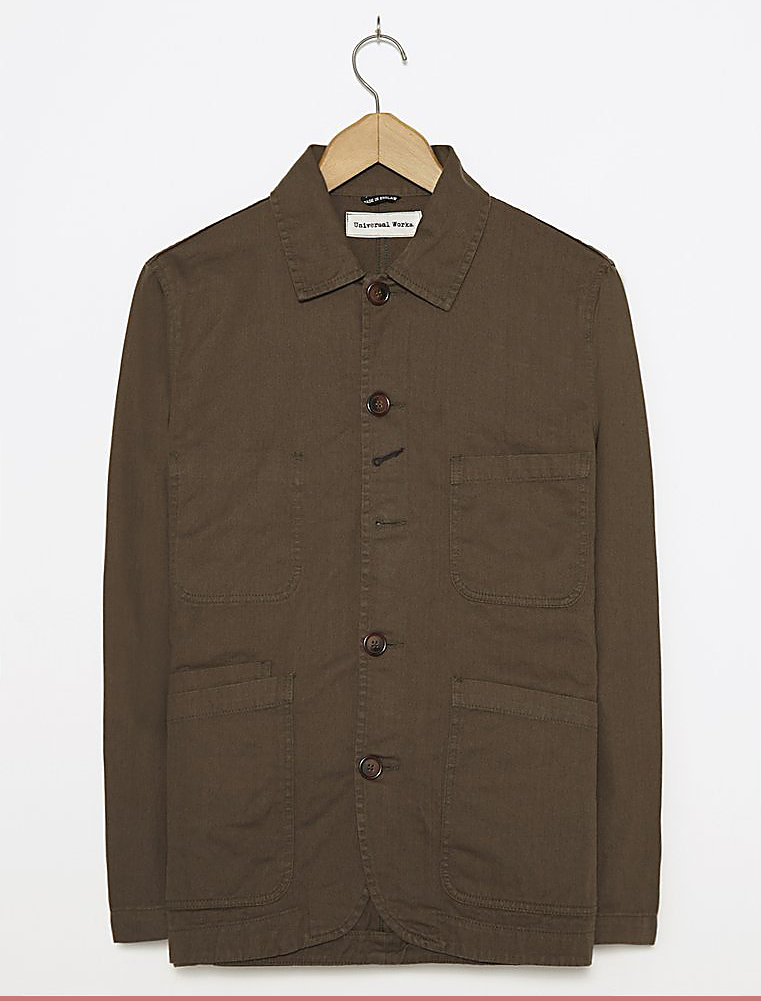 Universal Works Bakers Jacket Twill Olive