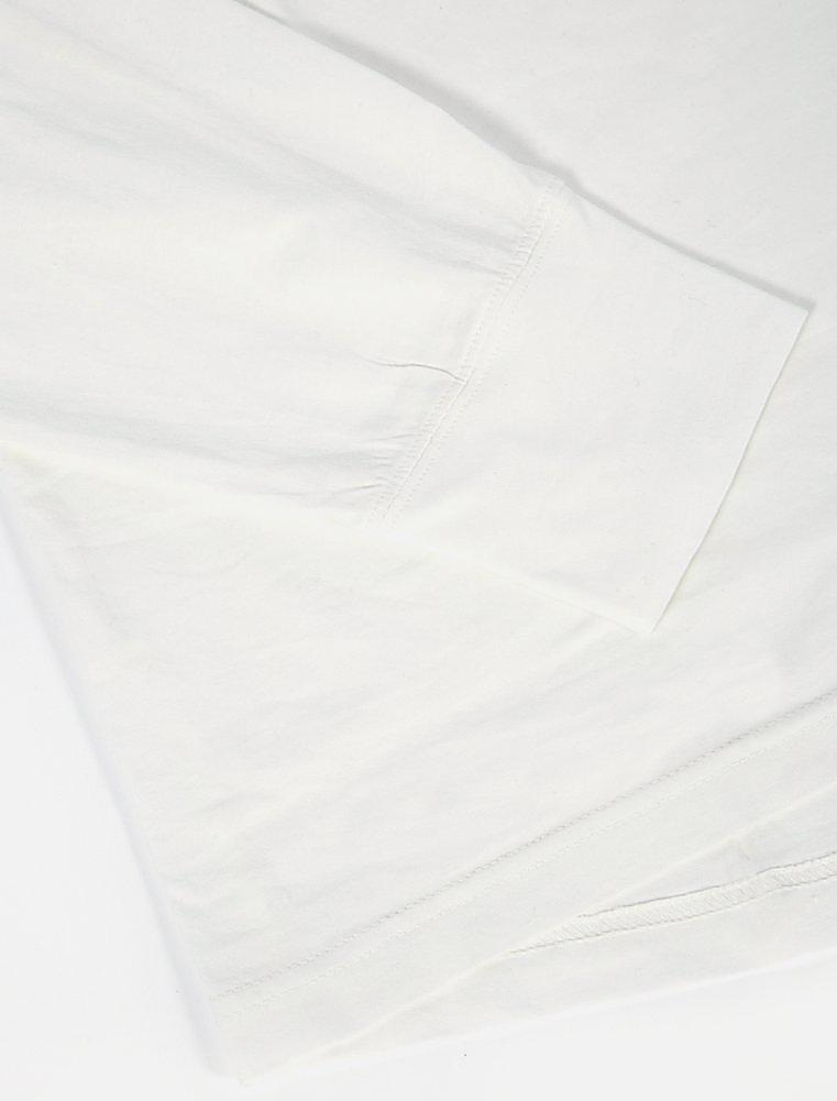 Universal Works Eaton Shirt Single Jersey Ecru dettaglio polsino