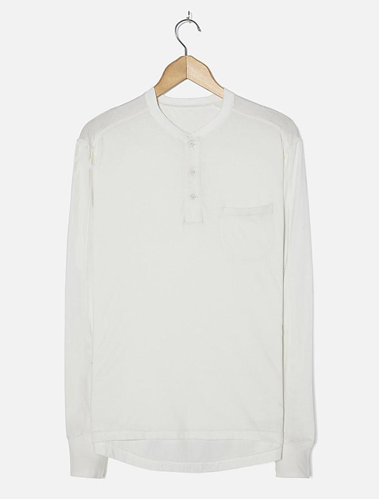 Universal Works Eaton Shirt Single Jersey Ecru