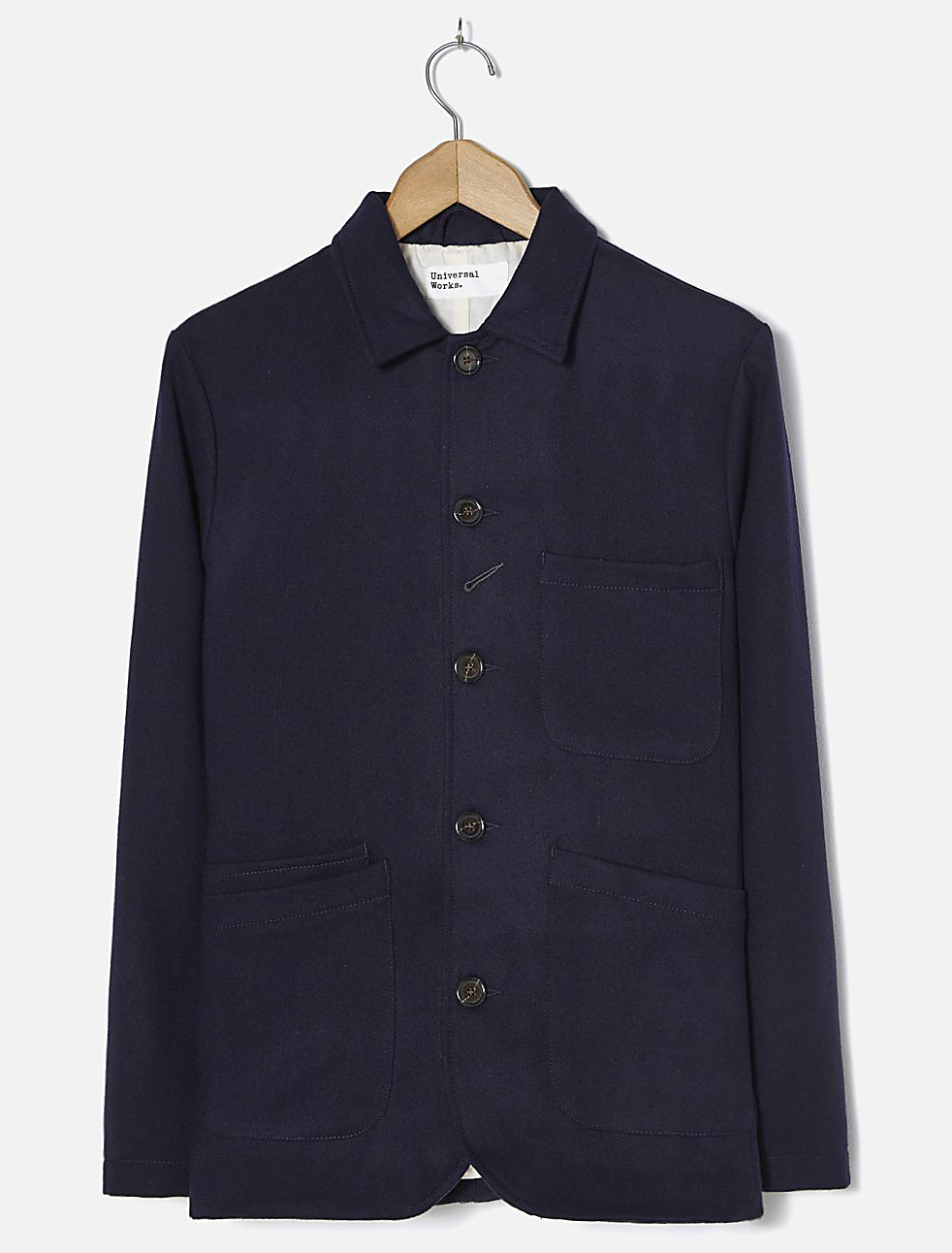 Universal Works Bakers Jacket Twill Wool Navy