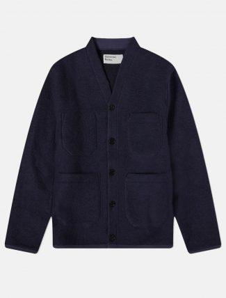 Universal Works Cardigan Wool fleece Navy