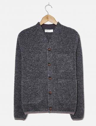 Universal Works Cardigan Wool fleece Charcoal