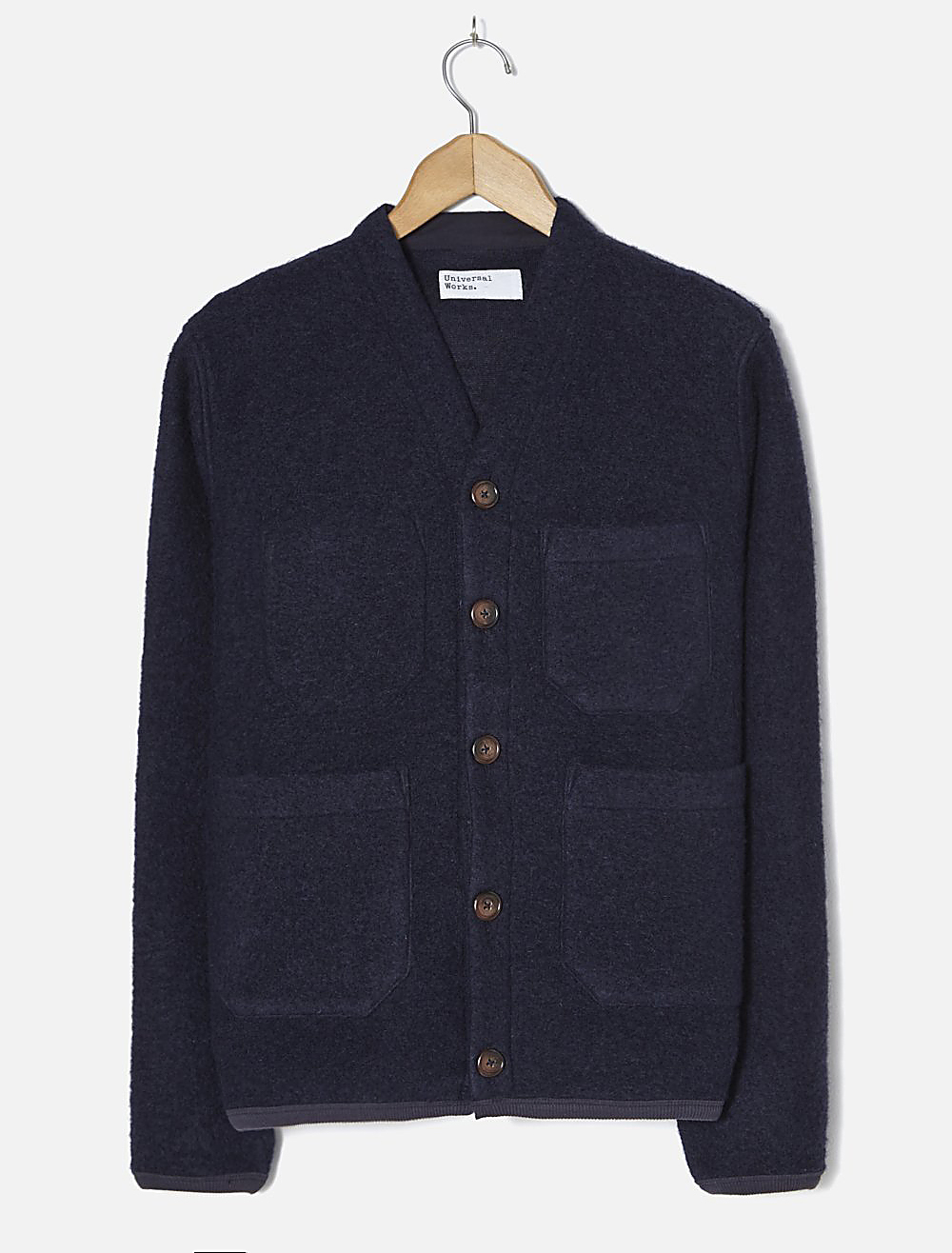 Universal Works Cardigan Wool fleece Navy