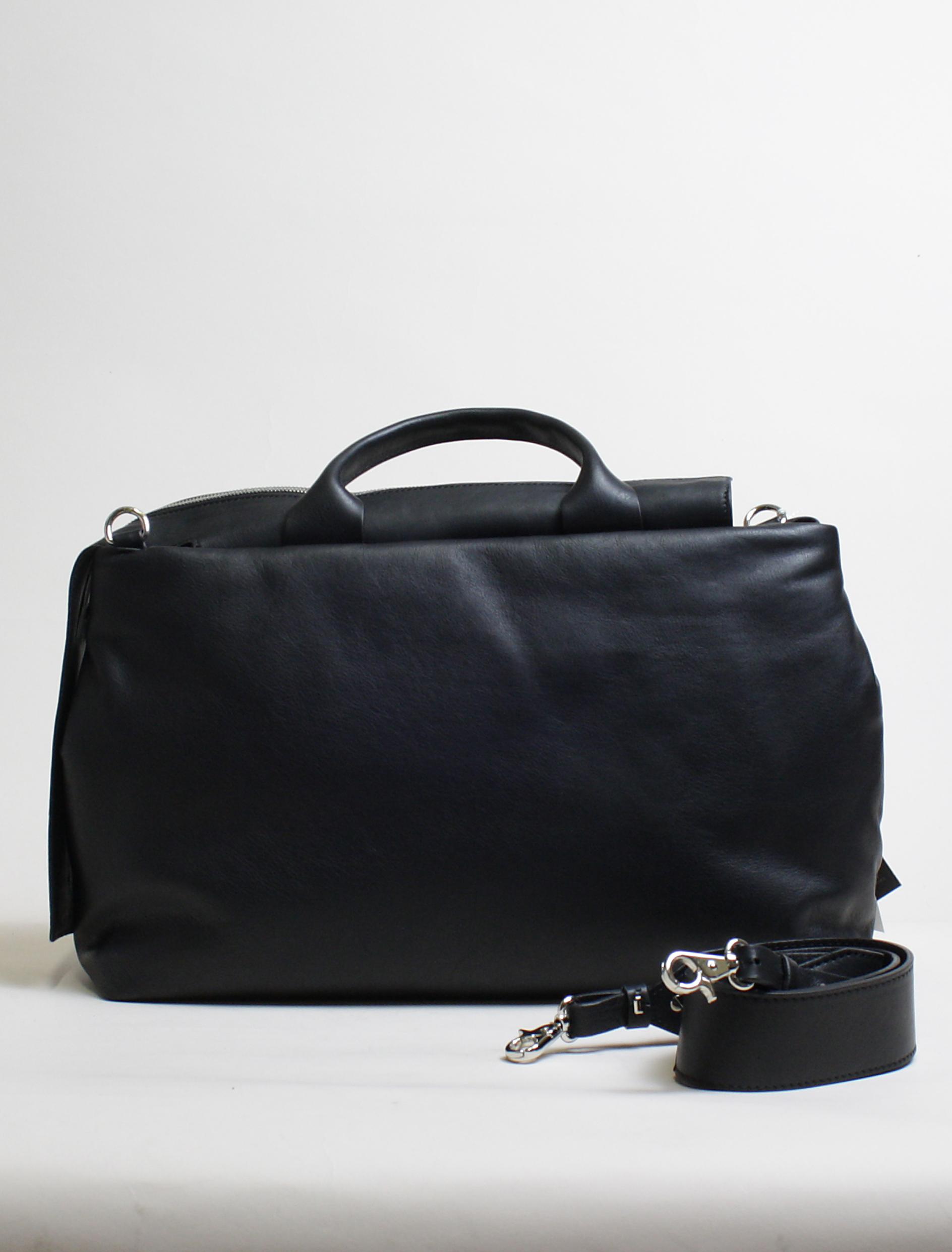 Vic Matiè black calf shopper bag