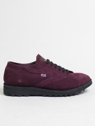 Walsh New Ripple suede aubergine