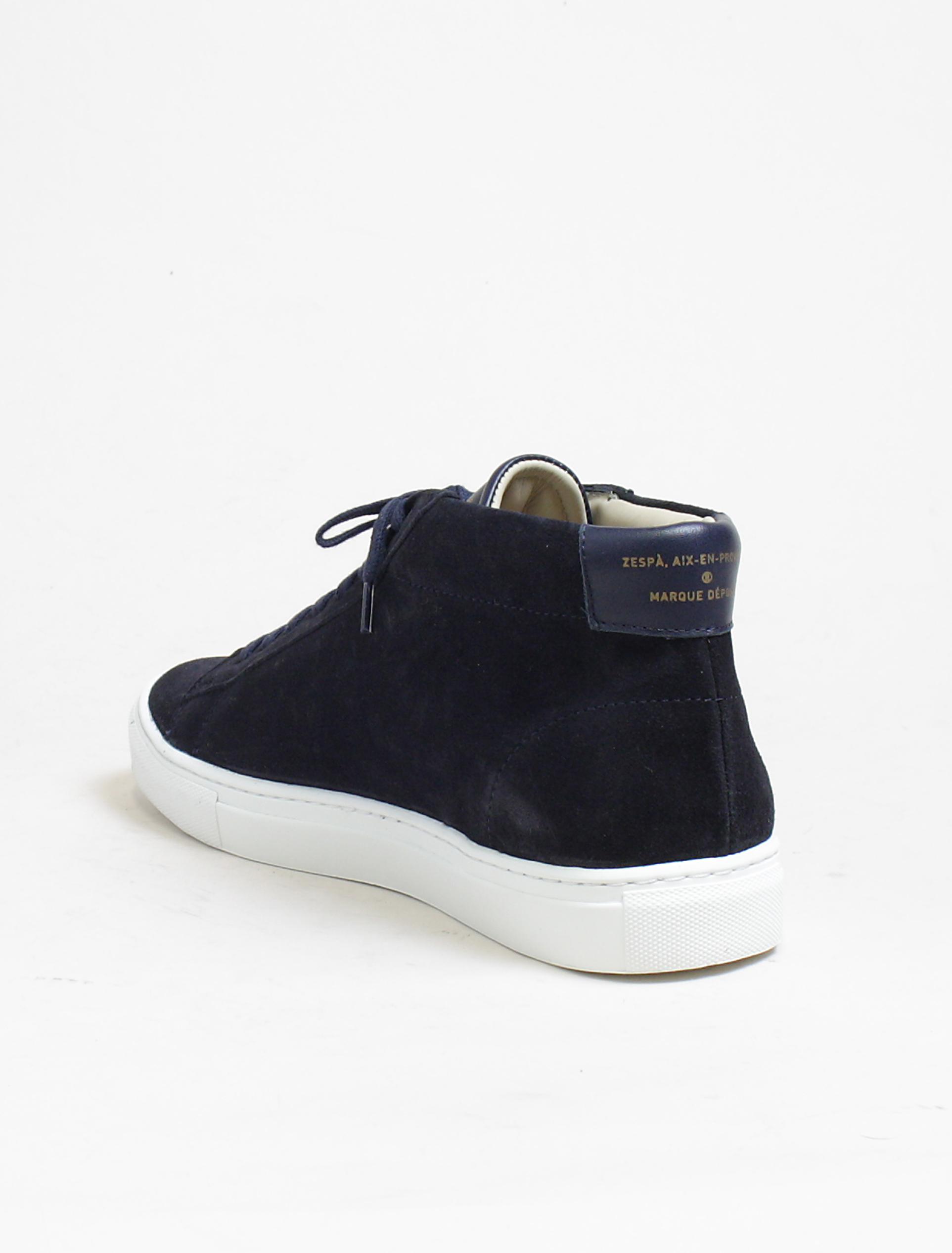 Zespa zsps sneakers suede navy dettaglio interno