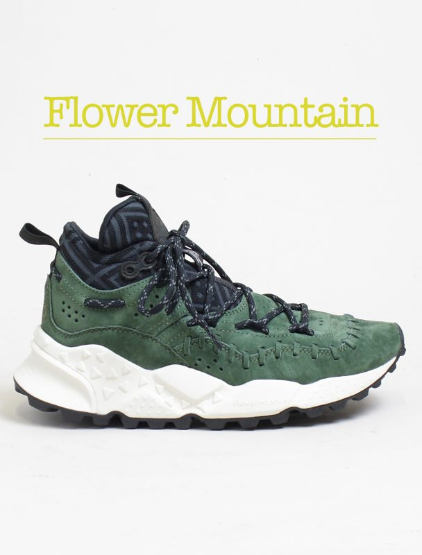 Flower Mountain snaekers Mohican leather green home page corsishop.com