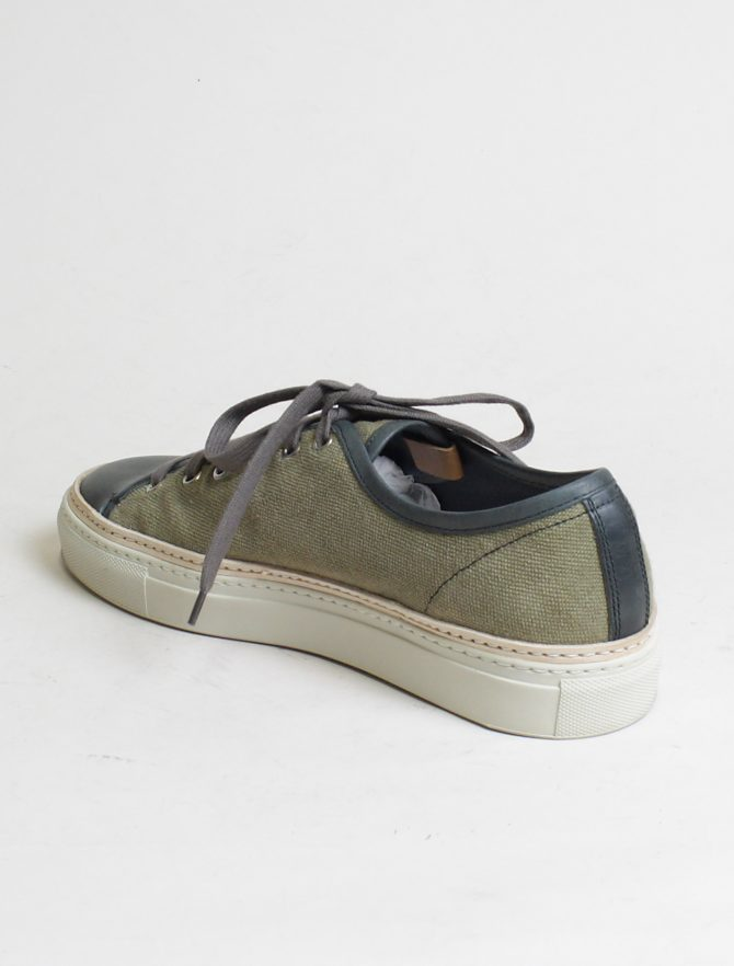 Buttero B6860 Tanino low top canvas kaky asfalto dettaglio laterale