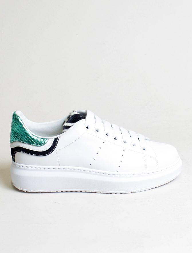 D'Acquasparta sneakers Court High W Seta bianco acquamarina