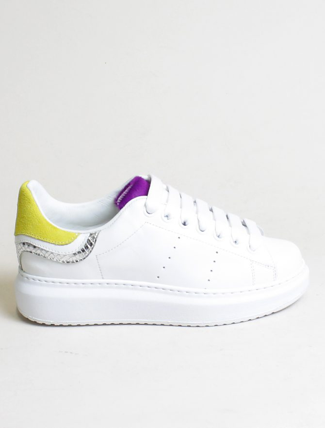 D'Acquasparta sneakers Court High W Seta bianco twitty