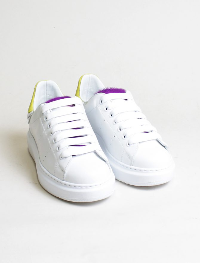 D'Acquasparta sneakers Court High W Seta bianco twitty paio