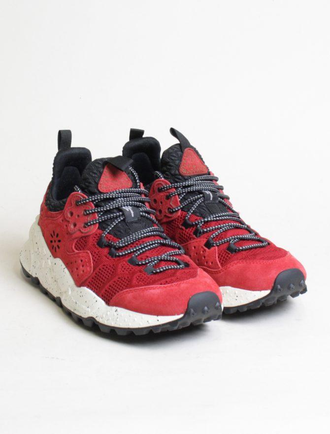 Flower Mountain sneakers Kotetsu man Velour Nylon Comb rosso paio