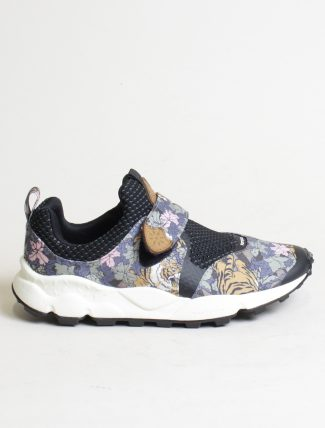 Flower Mountain sneakers Pampas 2 woman canvas tiger print bleu
