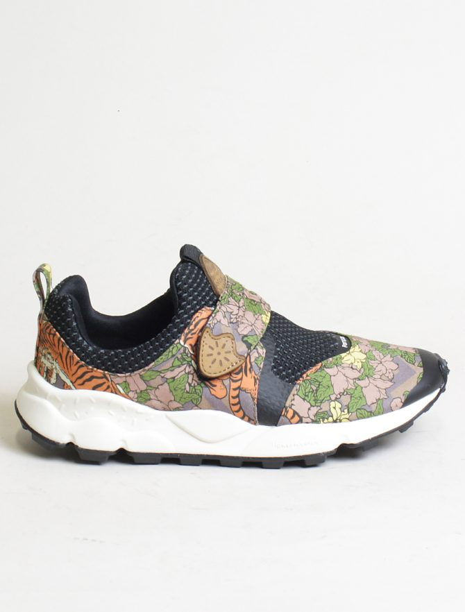 Flower Mountain sneakers Pampas 2 woman canvas tiger print marrone