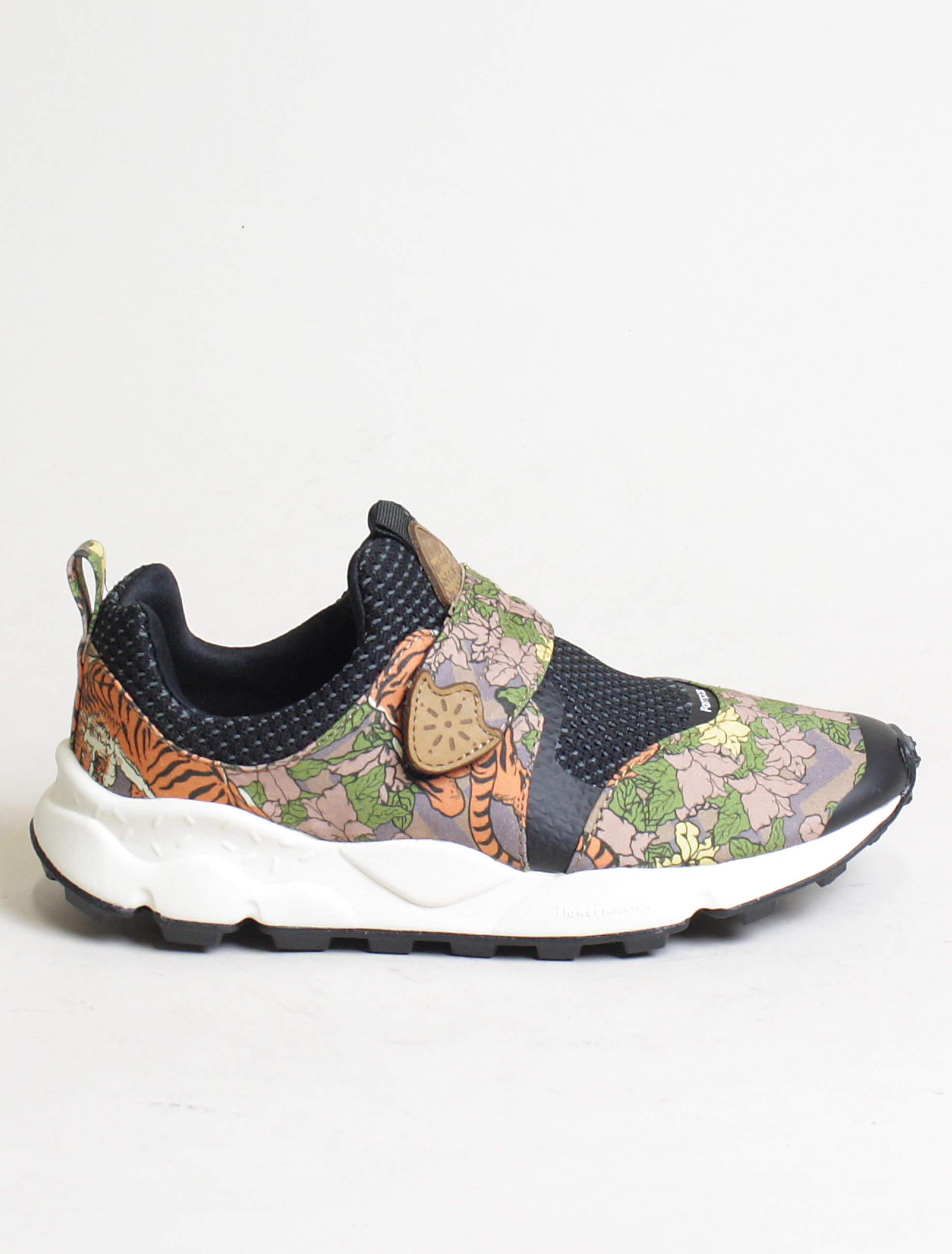 new styles 43e19 8d05f Flower Mountain sneakers Pampas 2 woman canvas tiger print marrone