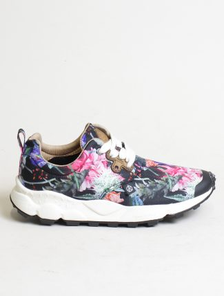Flower Mountain sneakers Pampas woman Nylon Carnation Black