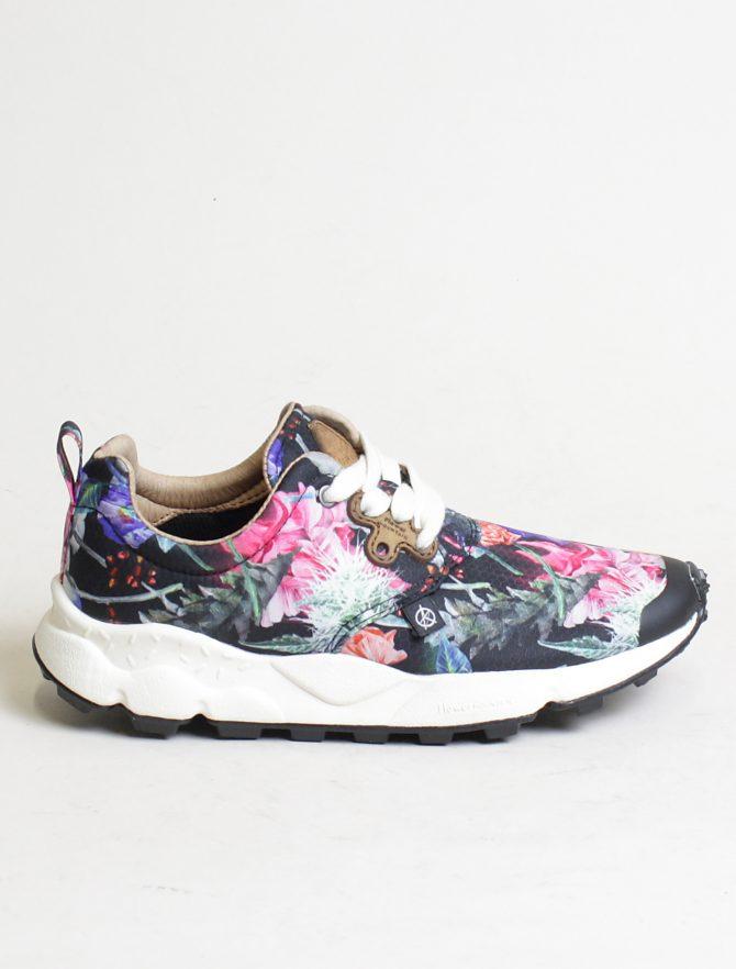 Flower Mountain sneakers Pampas woman Nylon Carnation Black