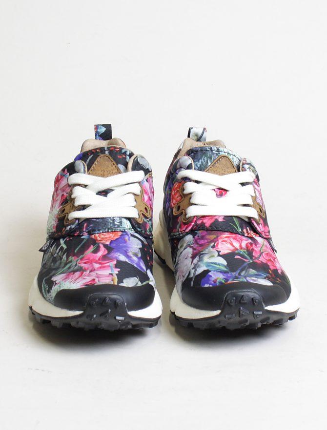 Flower Mountain sneakers Pampas woman Nylon Carnation Black frontale