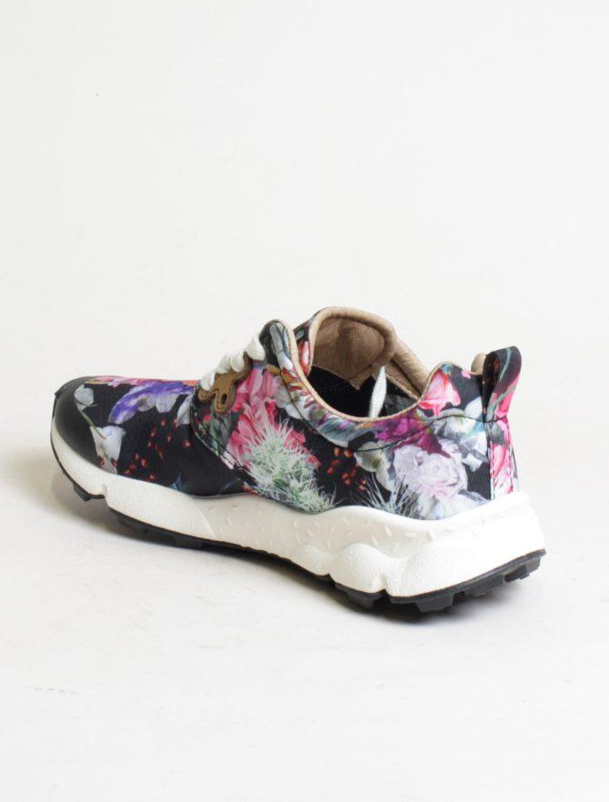 Flower Mountain sneakers Pampas woman Nylon Carnation Black dettaglio laterale