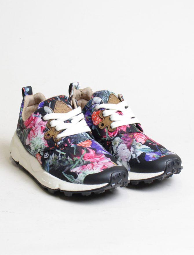 Flower Mountain sneakers Pampas woman Nylon Carnation Black paio