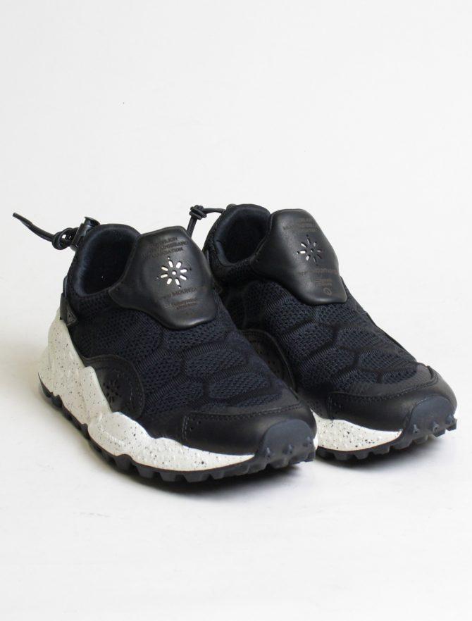 Flower Mountain sneakers Honeycomb woman vitello nylon black paio