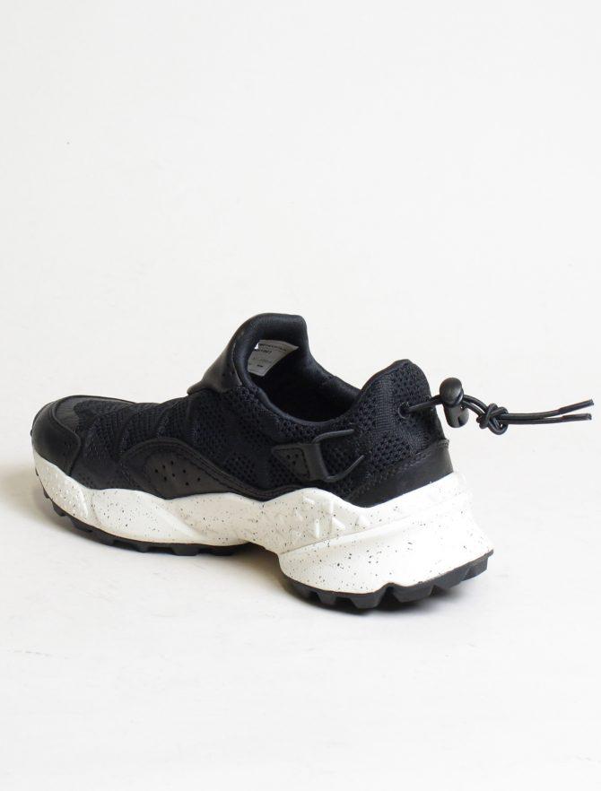 Flower Mountain sneakers Honeycomb woman vitello nylon black dettaglio laterale