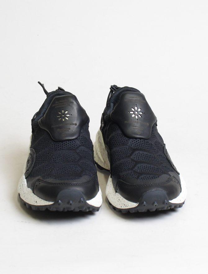 Flower Mountain sneakers Honeycomb woman vitello nylon black frontale