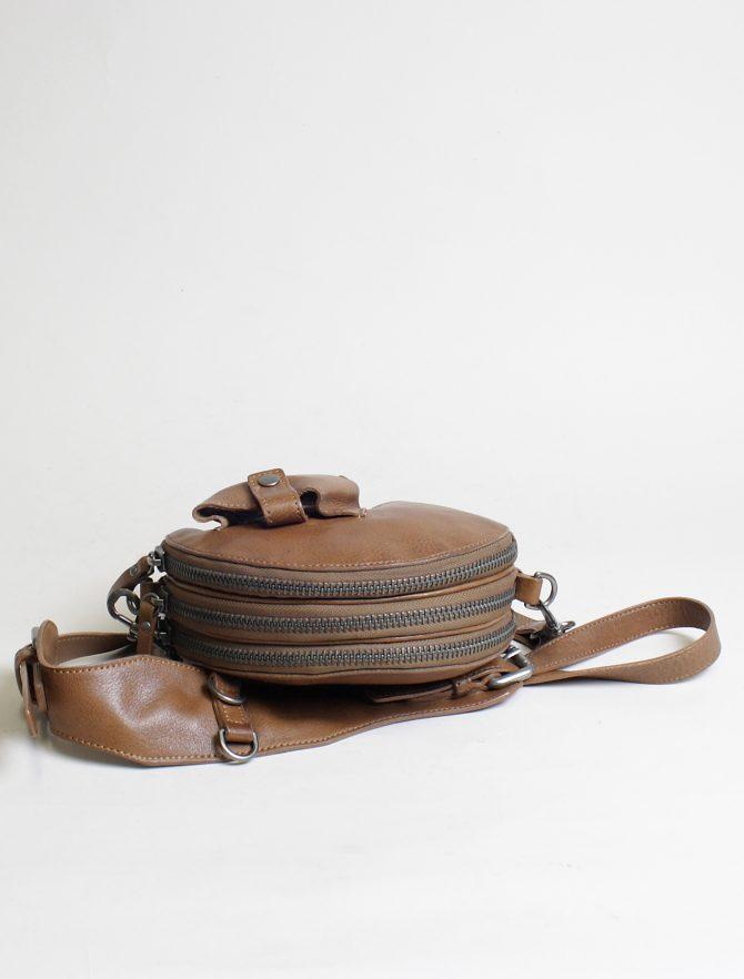 Re-Hard borsa 5100 tracolla tonda cuoio dettaglio zip