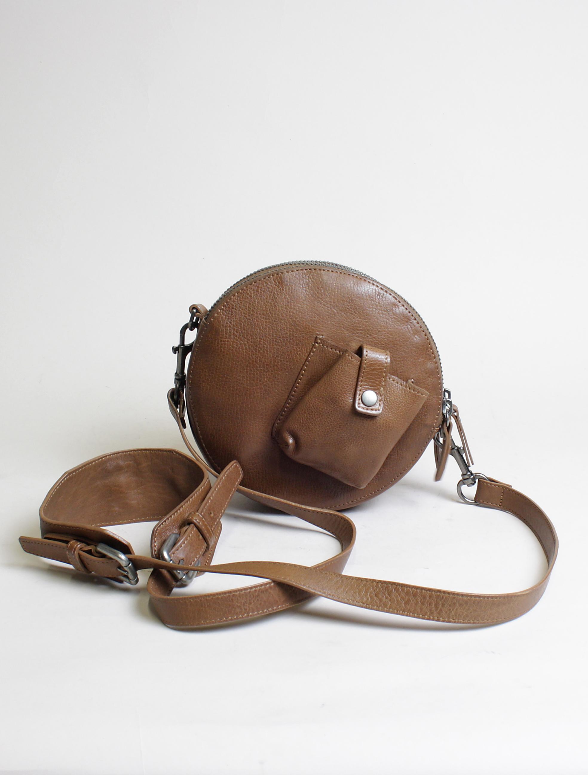Re-Hard 5100 satchel round bag cuoio