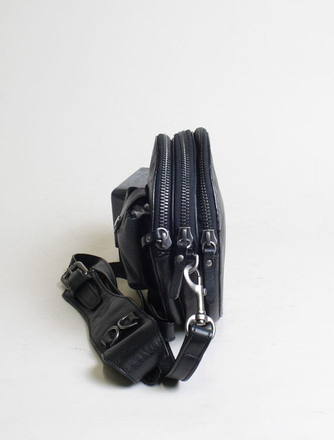 Re-Hard borsa 5100 tracolla tonda nero dettaglio zip