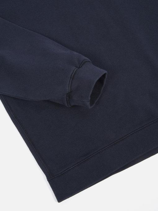 Universal Works Oversized Sweatshirt Loopback Navy manica
