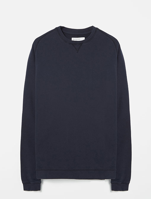 Universal Works Oversized Sweatshirt Loopback Navy