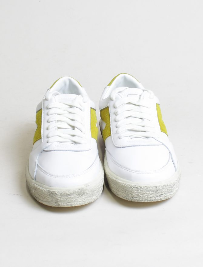 Walsh sneakers 18F042 White Yellow frontale