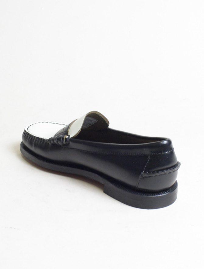 Sebago Classic Dan Moc Black White laterale