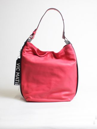 Vic Matié red calf shoulder bag