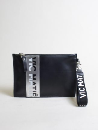 Vic Matié black calf pochette