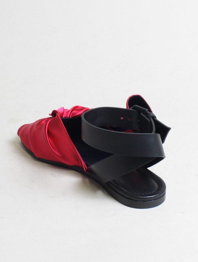 Vic Matié sandalo flat drappeggio fuxia laterale