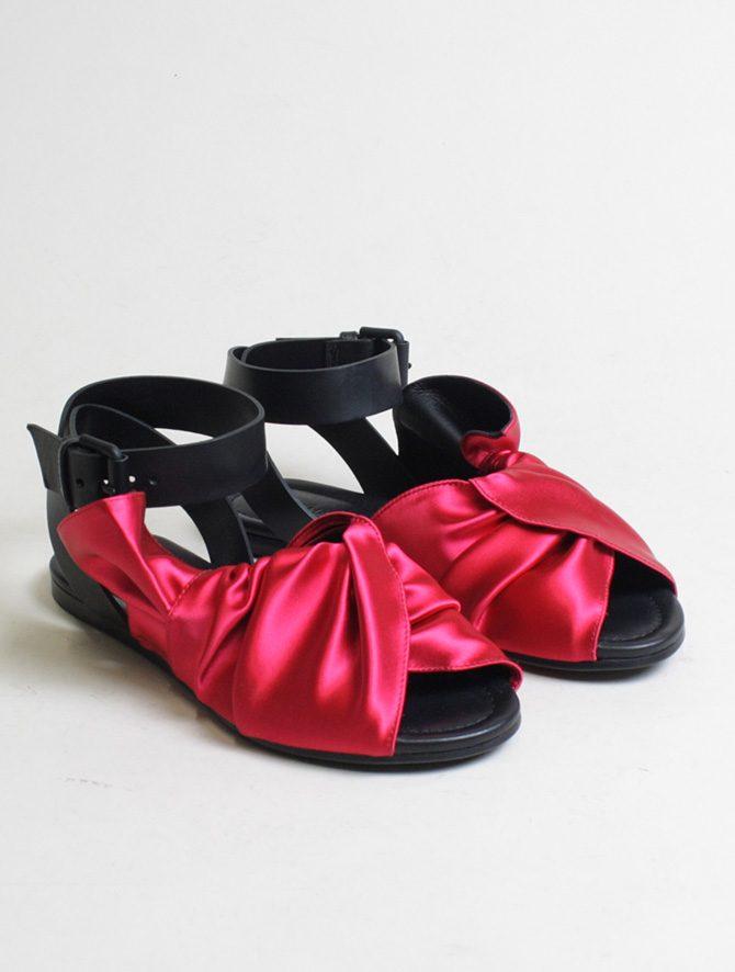 Vic Matié sandalo flat drappeggio fuxia paio