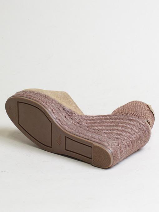 Castaner cotton canvas brown wedge 11cm sole detail