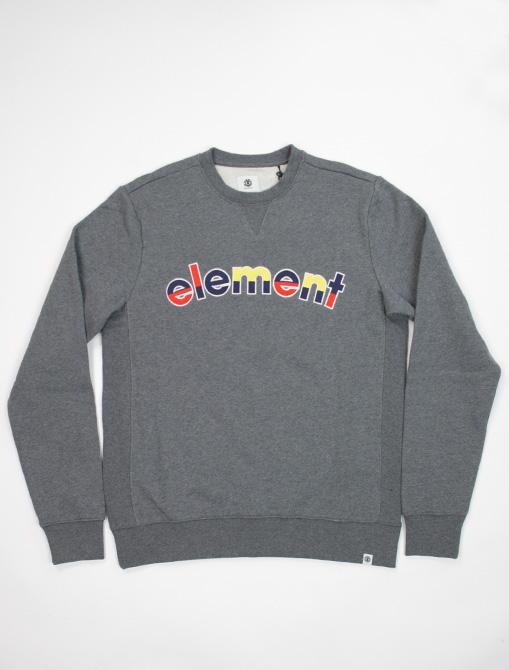 Element Rainbow Cr mid grey htr sweatshirt