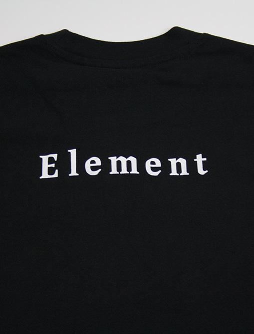 Element Sd Is Tee flint black stampa retro