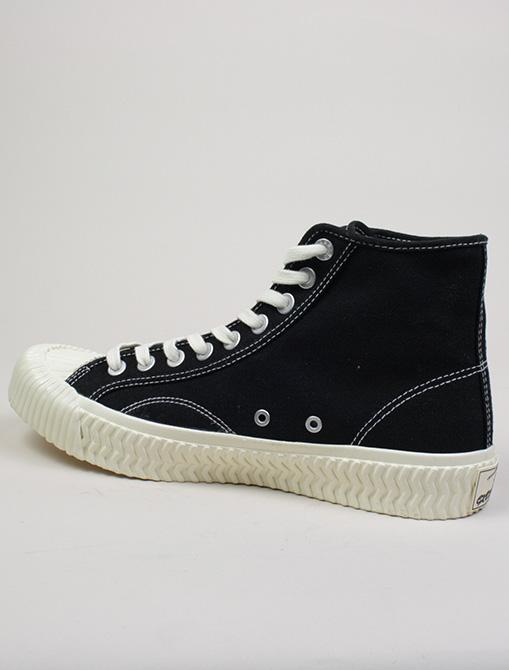 Excelsior Sneakers Bolt Hi Shoes rubber sole Black dettaglio laterale