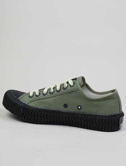 Excelsior Sneakers Bolt Lo Shoes Rubber Sole Khaki dettaglio laterale