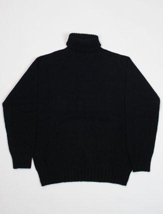 Harley of Scotland maglione a collo alto L38745 Black